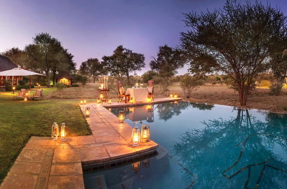 Breathtaking views from the poolside of Kings Camp in Timbavati.