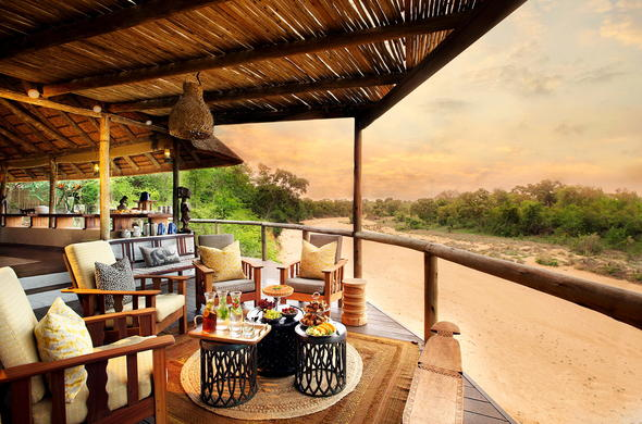 Patio view from Tanda Tula Safari Camp.